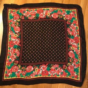 J P Collections Floral Ladybug Handkerchief/Scarf